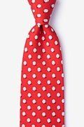 Red Silk No Hitter Tie