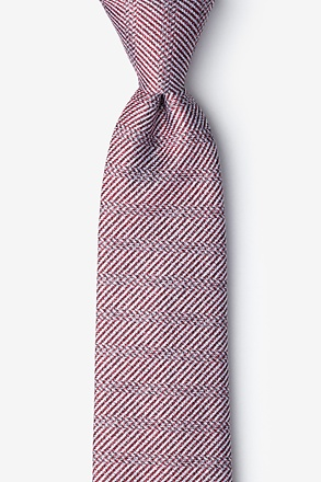 Oak Red Extra Long Tie