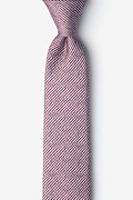 Red Silk Oak Skinny Tie