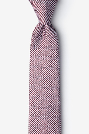 Oak Red Skinny Tie