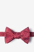 Red Silk Off the Hook Self-Tie Bow Tie