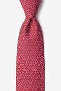 Red Silk Off the Hook Tie