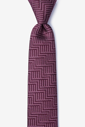 Pearch Red Skinny Tie