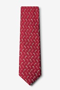 Peppermint Print Red Tie Photo (1)