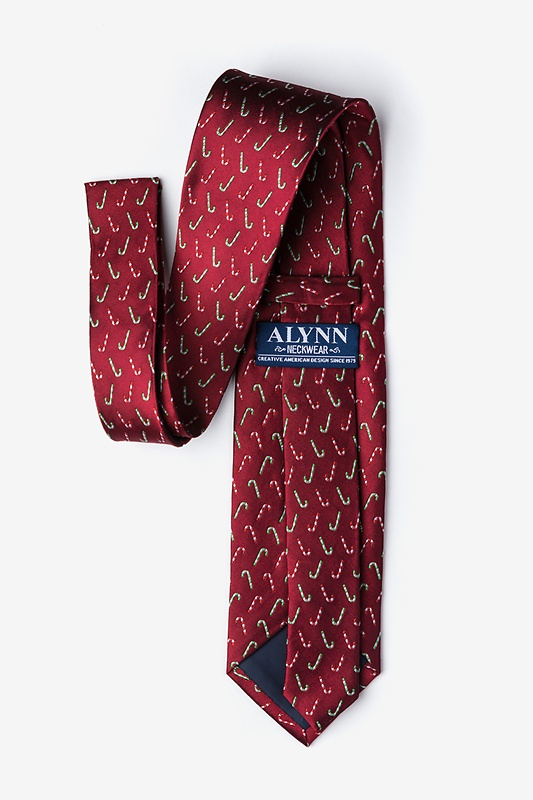 Peppermint Print Red Tie Photo (2)