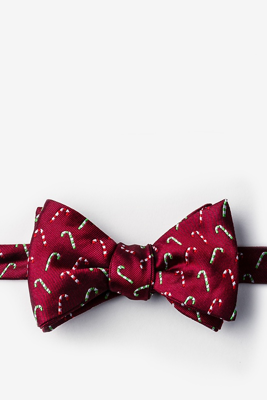 Perpetual Peppermint Red Self-Tie Bow Tie Photo (0)