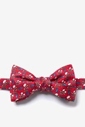 Red Silk Piggy Went To Market Butterfly Bow Tie