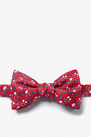 _Piggy Went to Market Red Self-Tie Bow Tie_