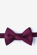 Red Silk Quartz Self-Tie Bow Tie
