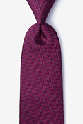 Red Silk Quartz Tie