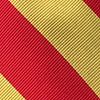 Red Silk Red and Gold Stripe Tie