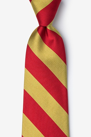 _Red and Gold Stripe Tie_