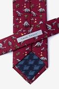 Red Classic Jurassic Extra Long Tie Photo (2)