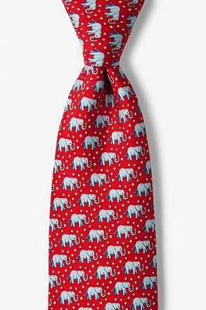 Republican Elephants Red Tie