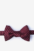Red Silk Robe Self-Tie Bow Tie