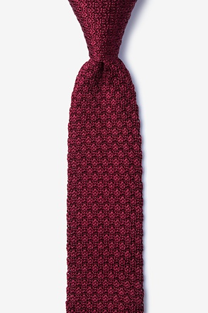 Textured Solid Knit Skinny Tie