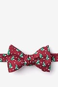 Red Silk Tree-mendous Self-Tie Bow Tie