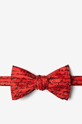 Red Silk U.S. Presidential Signatures Bow Tie
