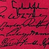 Red Silk U.S. Presidential Signatures Extra Long Tie