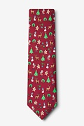 Very Merry Red Extra Long Tie Photo (1)