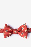 Red Silk Win, Place, Show Self-Tie Bow Tie