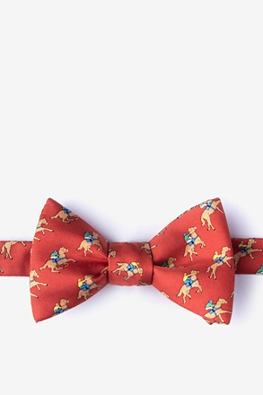 _Win, Place, Show Red Self-Tie Bow Tie_