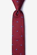 Red Silk Wooley Skinny Tie