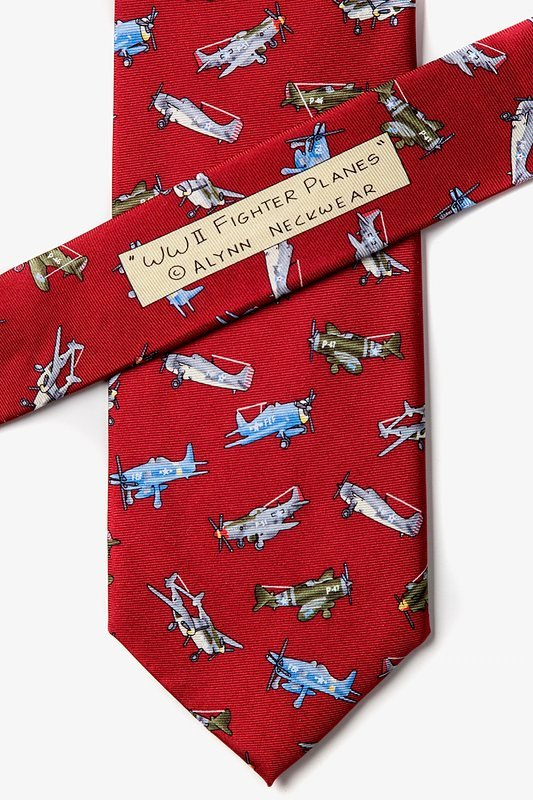 WWII Fighter Planes Tie Photo (2)
