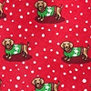 Red Silk Yappy Howlidays Extra Long Tie