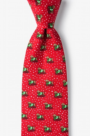 _Yappy Howlidays Red Extra Long Tie_