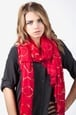 Red Viscose Matilda Scarf