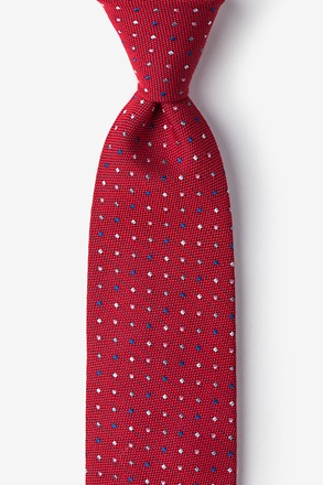 Red Antwerp Polka Dot Tie
