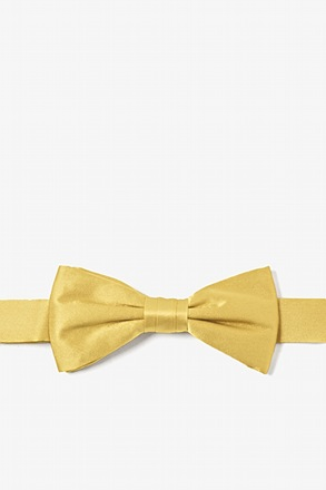Rich Gold Bow Tie For Boys
