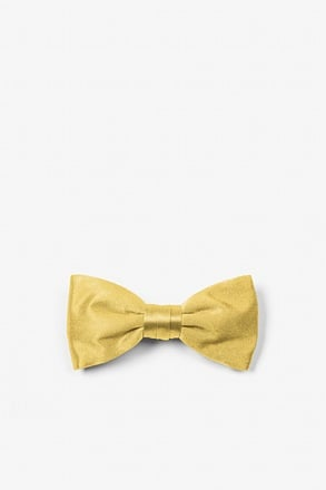 Rich Gold Bow Tie For Infants