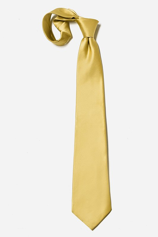 Rich Gold Extra Long Tie Photo (2)