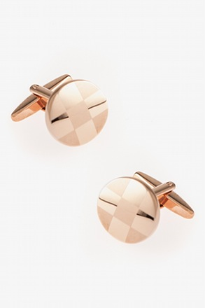 """Round Monochrome Check"" Cufflinks"