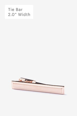 Beveled Rectangle Rose Gold Tie Bar
