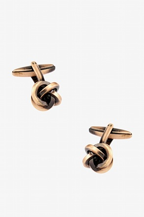 _Brushed Knot Cufflinks_