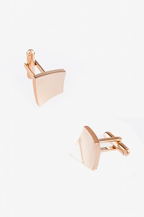 _Curved Square Cufflinks_