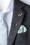 Elk Rose Gold Lapel Pin Photo (1)