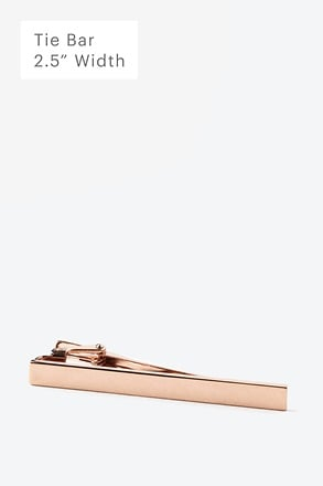 Executive Clasp Rose Gold Tie Bar