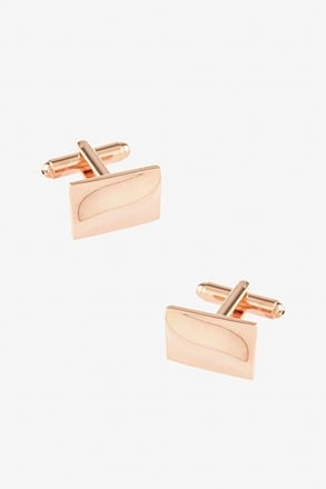 Small Solid Slanted Cufflinks