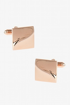 Solid Slanted Square Cufflinks
