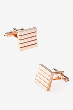 _Solid Striped Square Cufflinks_