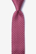 Textured Solid Rose Knit Skinny Tie Photo (0)