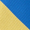 Royal Blue Microfiber Royal Blue & Gold Stripe Tie For Boys