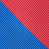 Royal Blue Microfiber Royal Blue & Red Stripe Skinny Tie