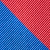 Royal Blue Microfiber Royal Blue & Red Stripe Tie