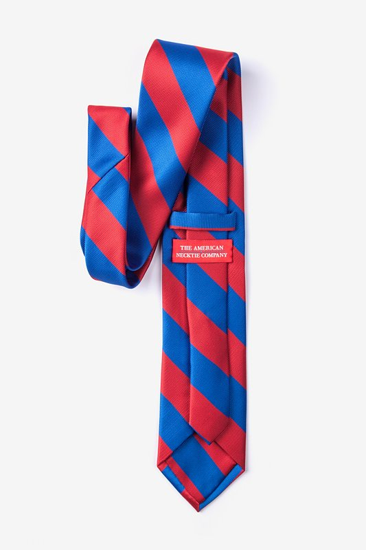 Royal Blue & Red Stripe Extra Long Tie