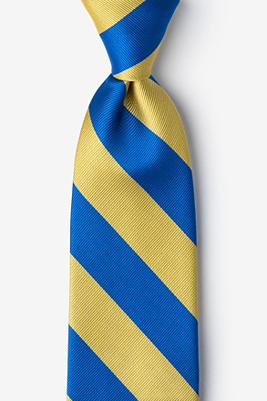 Royal Blue And Gold Stripe Tie